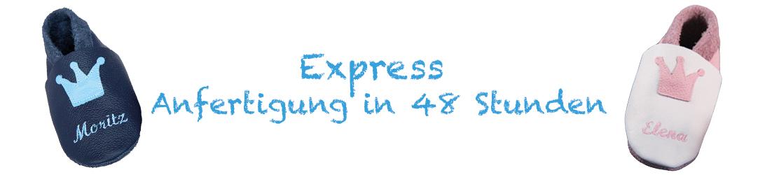 Express Schuhanfertigung mit Wunschname in 48 Stunden