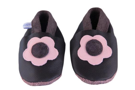 Babypuschen Chocolate Flower