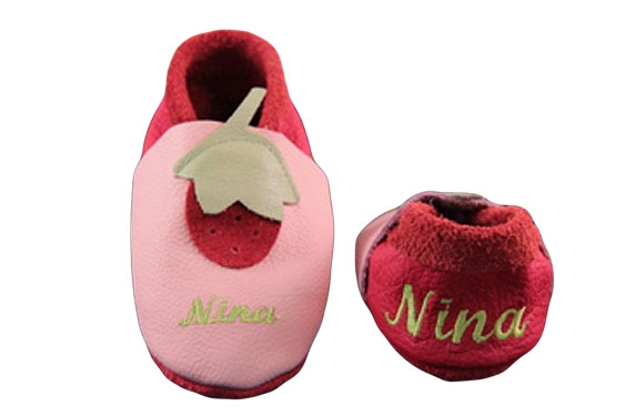 Babyschuhe Erdbeere